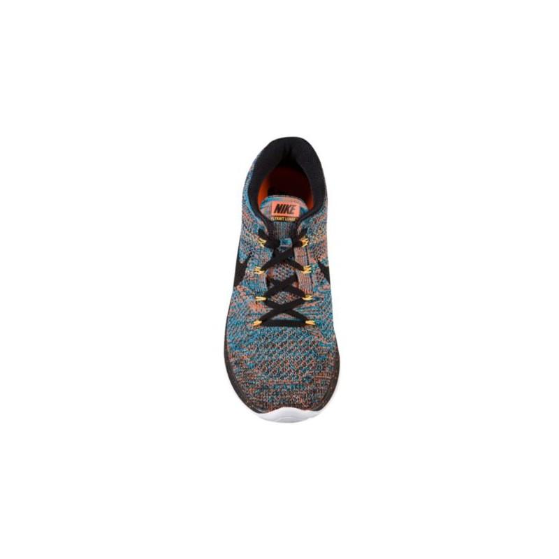 more photos 7f9bd 9ec93 ... Nike Flyknit Lunar 3 - Men s - Running - Shoes - Total Orange Blue  Lagoon