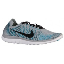 Nike Free 4.0 Flyknit 2015 - Men's - Running - Shoes - Wolf Grey/Blue Lagoon/White/Black-sku:17075010