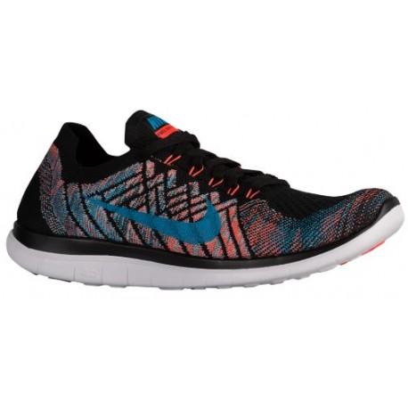 Nike Free 4.0 Flyknit 2015 - Men's - Running - Shoes - Black/Copa/Blue Lagoon/Hyper Orange-sku:17075009