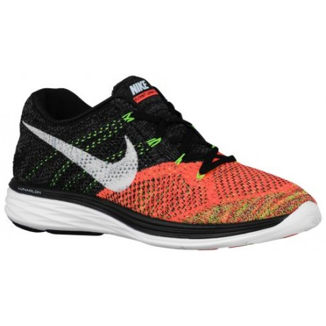 online store f21fd 69d93 hot pink nike running shoes,Nike Flyknit Lunar 3 - Men s - Running - Shoes  - Black White Hot Lava Volt-sku 98181007