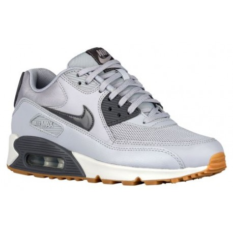 Nike Air Max 90 Womens Wolf Grey/Dark Grey/Pure Platinum Running Shoes V97597