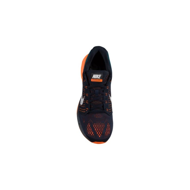 the best attitude 49bf1 d04d9 ... Nike LunarGlide 7 - Men s - Running - Shoes - Dark Obsidian Total Orange