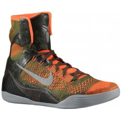 Nike Kobe IX High - Men's - Basketball - Shoes - Kobe Bryant - Sequoia/Rough Green/Hyper Crimson/Silver-sku:30847303