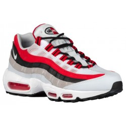 Nike Air Max 95 - Men's - Running - Shoes - University Red/Wolf Grey/Black/Pure Platinum/White-sku:49766601