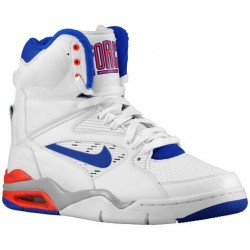 Nike Air Command Force - Men's - Basketball - Shoes - White/Bright Crimson/Wolf Grey/Lyon Blue-sku:84715101