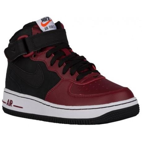 quality design 42ec7 5e51c Nike Air Force 1 Mid - Boys' Grade School - Basketball - Shoes - Black/Team  Red/White/Black-sku:14195032