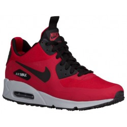 Nike Air Max 90 Mid Winter - Men's - Running - Shoes - Gym Red/Black/Wolf Grey-sku:06808600