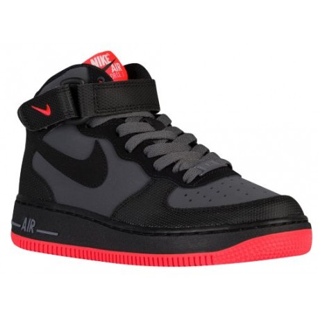 hot sale online 3d758 55bf7 Nike Air Force 1 Mid - Boys' Grade School - Basketball - Shoes - Dark  Grey/Black/Bright Crimson-sku:14195045