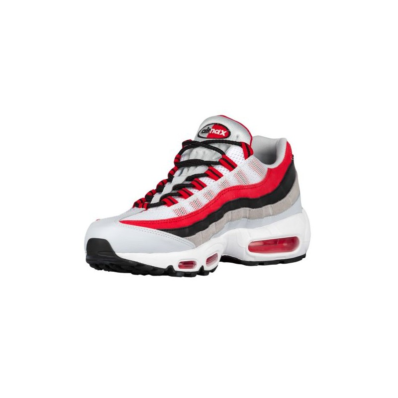 nike air max 95 white red grey