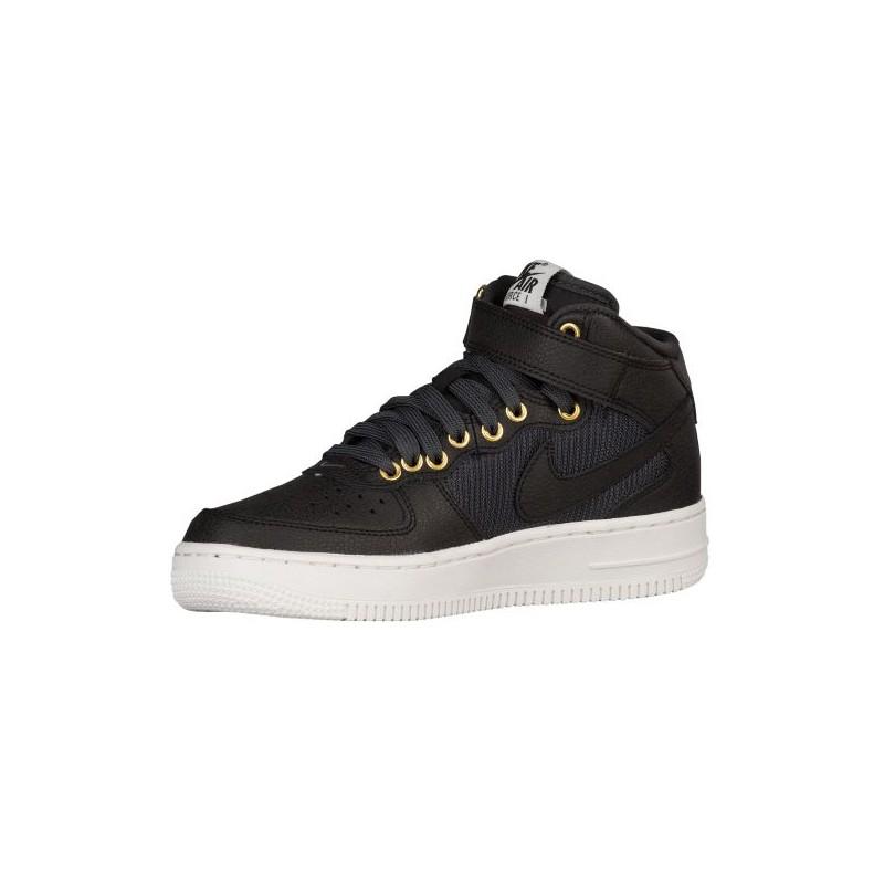 Nike Air Force 1 Mid Boys' Grade School Basketball Shoes BlackAnthraciteSummit White sku:20342002