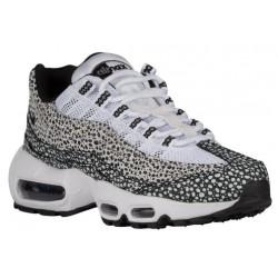 Nike Air Max 95 - Women's - Running - Shoes - White/Black/Cool Grey/Gum Light Brown-sku:07443100