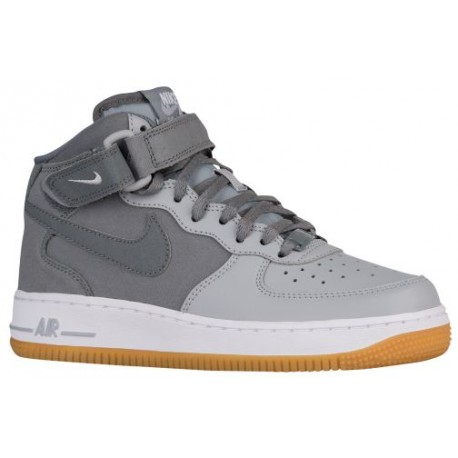 competitive price 0e552 8a04d nike air force 1 grey,Nike Air Force 1 Mid - Boys' Grade School -  Basketball - Shoes - Cool Grey/Wolf Grey/Gum Light Brown-sku: