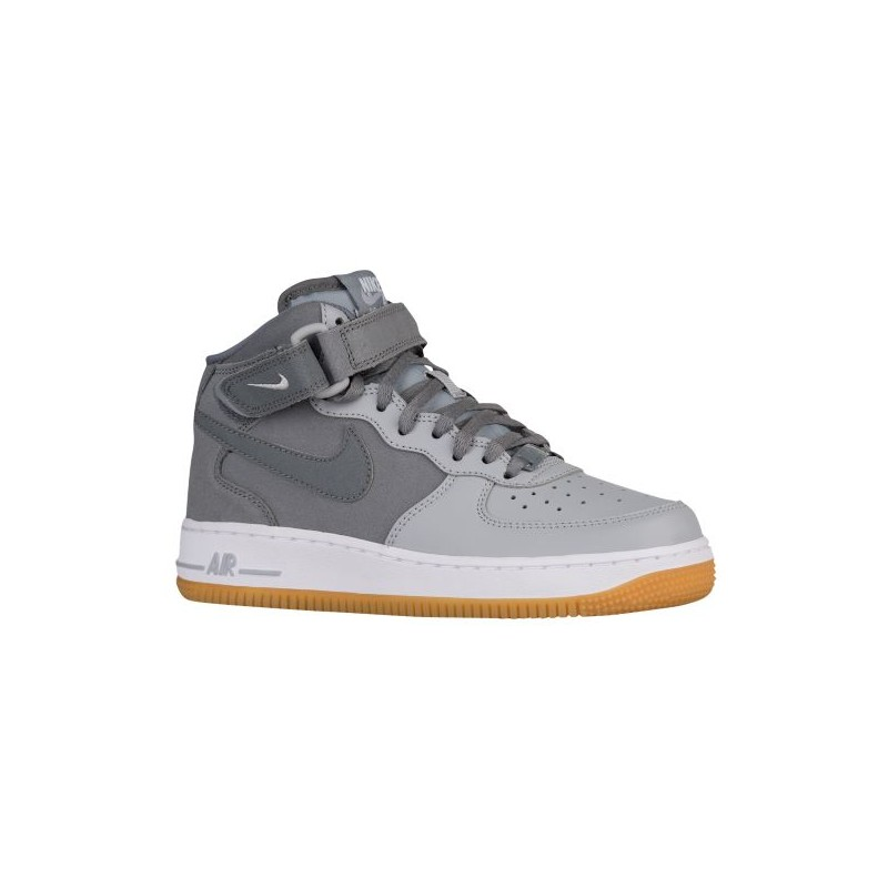 Nike Air Force 1 Mid - Boys' Grade School - Basketball - Shoes - Cool ...