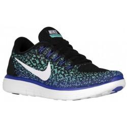 Nike Free RN Distance - Women's - Running - Shoes - Black/White/Green Glow/Persian Violet-sku:27116013
