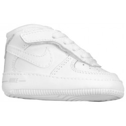 Nike Air Force One Crib - Boys' Infant - Basketball - Shoes - White/White-sku:25337111