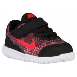 Nike Flex Experience 4 - Boys' Toddler - Running - Shoes - Black/White/Bright Crimson-sku:49814002