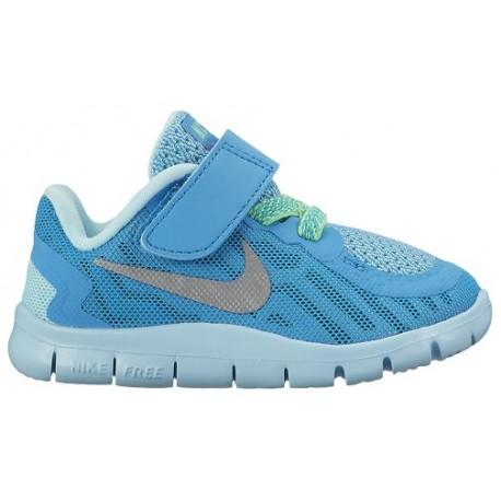 premium selection ae044 3aa4c Nike Free 5.0 2015 - Girls' Toddler - Running - Shoes - Blue  Lagoon/Metallic Silver/Midnight Navy/Copa-sku:25117404