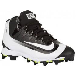 Nike Huarache 2K Filth Keystone Mid - Men's - Baseball - Shoes - Black/White/Volt-sku:07141017