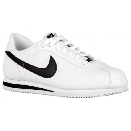 Nike Cortez - Men's - Running - Shoes - White/Black/Metallic Silver-