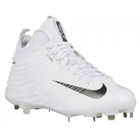 Nike Lunar Trout 2 - Men's - Baseball - Shoes - Mike Trout - White/Metallic Dark Grey-sku:07127100