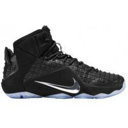 Nike LeBron XII Ext - Men's - Basketball - Shoes - LeBron James - Black/Chrome-sku:44286001
