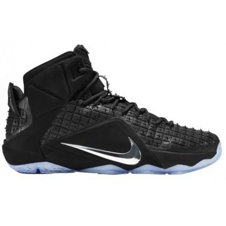 Nike LeBron XII Ext - Men's - Basketball - Shoes - LeBron James - Black/Chrome-sku:44286001