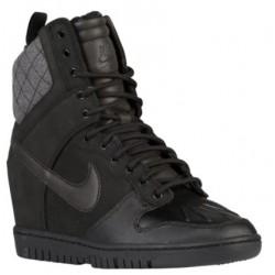 Nike Dunk Sky Hi Sneakerboot 2.0 - Women's - Casual - Shoes - Black/Black/Black-sku:4954002