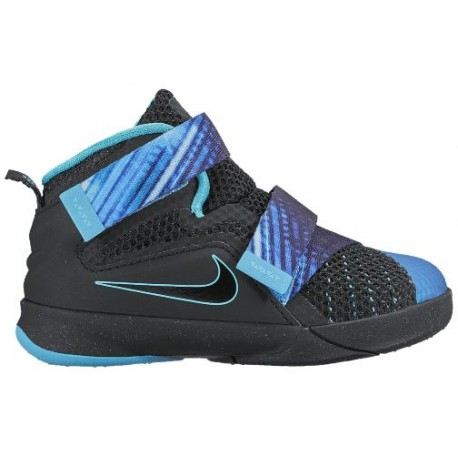 free shipping d2213 1fcdf Nike Soldier IX - Boys' Toddler - Basketball - Shoes - Black/Beta  Blue/Heritage Cyan-sku:76473040