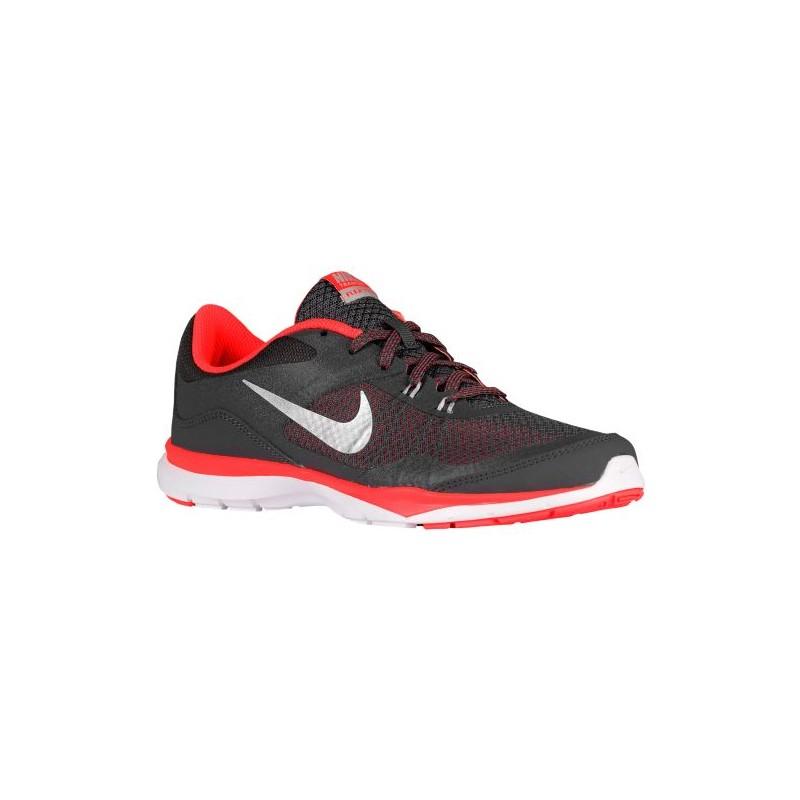 Nike Flex Trainer 5 - Women's - Training - Shoes - Dark Grey/Metallic Silver  ...