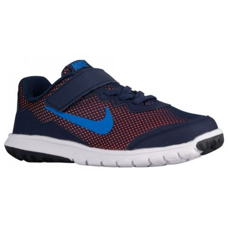 Nike Flex Experience 4 - Boys' Preschool - Running - Shoes - Midnight Navy/Dark Obsidian/Total Orange/Soar-sku:49809400