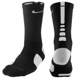 Nike Elite Basketball Crew Socks - Men's - Basketball - Accessories - Black/White-sku:3629007
