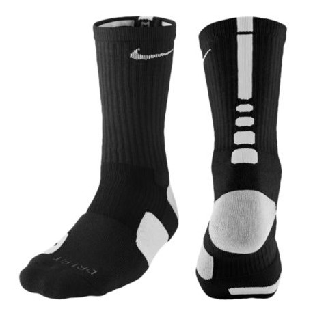 Nike Elite Basketball Crew Socks - Men's - Basketball - Accessories - Black/White-sku:3629007