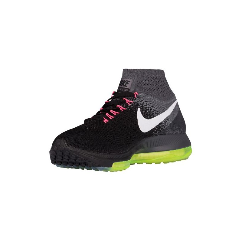 1c329cc0fb6c ... Nike Zoom All Out Flyknit - Women s - Running - Shoes - Black Cool Grey  ...