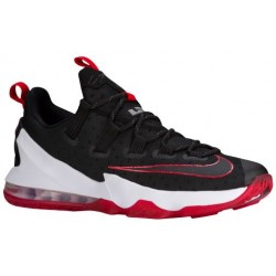 Nike LeBron XIII Low - Men's - Basketball - Shoes - LeBron James - Black/University Red/White-sku:31925061