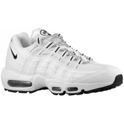 Nike Air Max 95 - Men's - Running - Shoes - White/Black/Black-sku:09048109