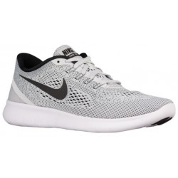 Nike Free RN - Men's - Running - Shoes - White/Pure Platinum/Black-sku:31508101