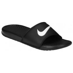 Nike Benassi Swoosh Slide - Men's - Casual - Shoes - Black/White-sku:12618011
