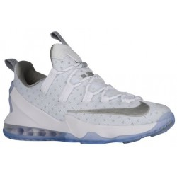 Nike LeBron XIII Low - Men's - Basketball - Shoes - LeBron James - White/Metallic Silver-sku:31925100
