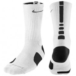 Nike Elite Basketball Crew Socks - Men's - Basketball - Accessories - White/Black-sku:3629107