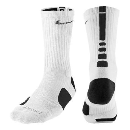 Nike Elite Basketball Crew Socks - Men's - Basketball - Accessories - White/Black-sku:3629107
