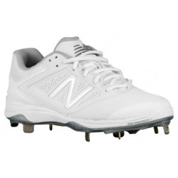 New Balance 4040v1 Metal Low - Women's - Softball - Shoes - White/White-sku:4040122
