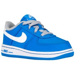 Nike Air Force 1 Low - Boys' Toddler - Basketball - Shoes - Photo Blue/Wolf Grey/White-sku:96730400