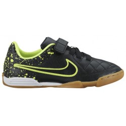 Nike Tiempo V4 IC - Boys' Grade School - Soccer - Shoes - Black/Volt-sku:58103007
