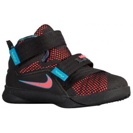 48bbe2288699 Nike Soldier IX - Boys  Toddler - Basketball - Shoes - Black Hyper  Orange Blue Lagoon Green Shock-sku 76473084