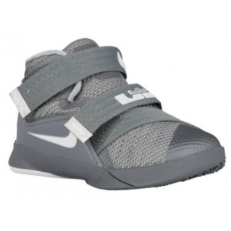 Nike Soldier IX - Boys' Toddler - Basketball - Shoes - Cool Grey/Dark Grey/Pure Platinum-sku:76473003