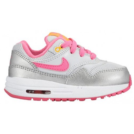 nike air max 1 running shoes platinum for girls