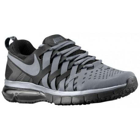 Nike Fingertrap Max Free - Men's - Training - Shoes - Metallic Dk Grey/Black