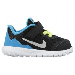 Nike Flex Experience 4 - Boys' Toddler - Running - Shoes - Black/Metallic Silver/Blue Lagoon/White/Volt-sku:49810002