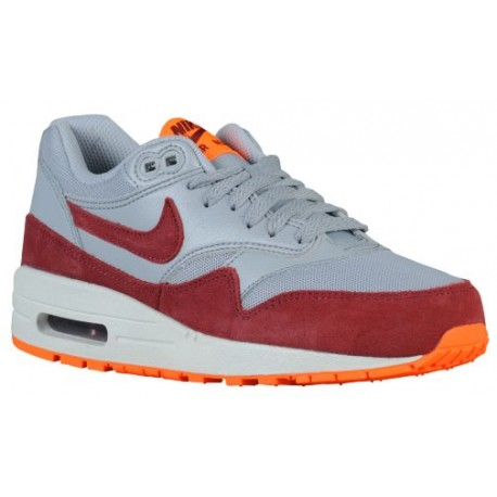 detailed look a43c0 590f5 nike air max orange and grey,Nike Air Max 1 - Women s - Running - Shoes -  Wolf Grey Total Orange Summit White Team Red-sku 9982