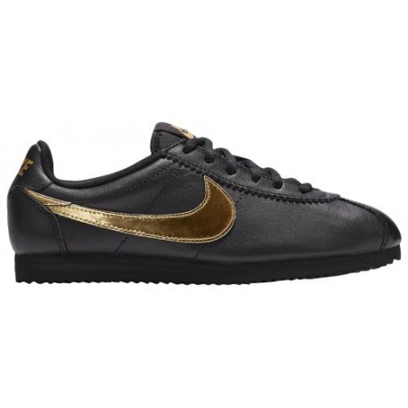 Nike Cortez - Boys' Grade School - Running - Shoes - Black/Metallic Gold-sku:39240001